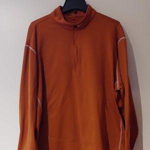 Burnt Orange Nike Golf XXL Therma-Fit 1/2 Zip MW